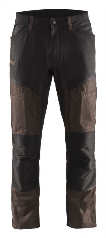 Blaklader 1456 Stretch Service Trousers - 65% Polyester/35% Cotton (Brown/Black)